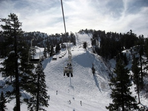 Ski Lift at Big Bear Lake, California