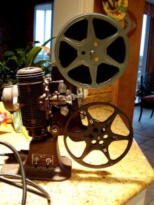 Reel to reel projector