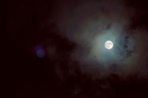 view of the moon at big bear mountain