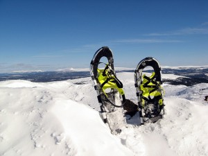 Snowshoes on the mountain
