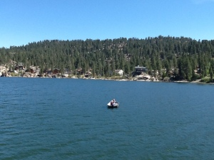 Fishing boat on Big Bear Lake