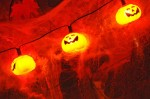 Jack o'lantern lights