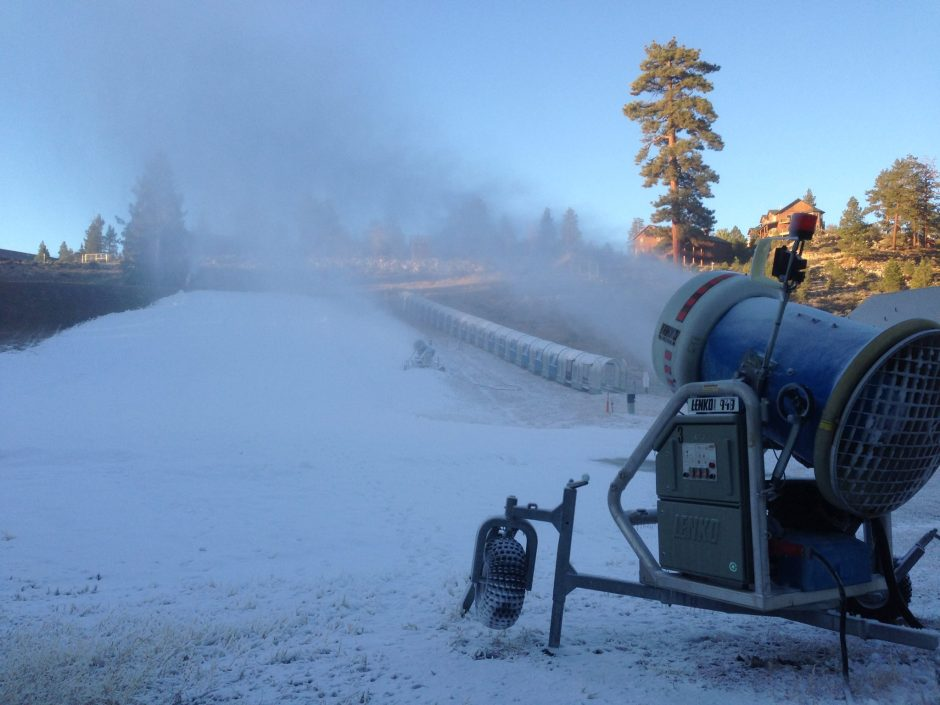 Snow Machine at Big Bear Lake