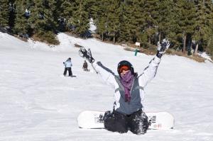 Snowboarder on Snow Summit