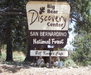 Big Bear Discovery Center Sign