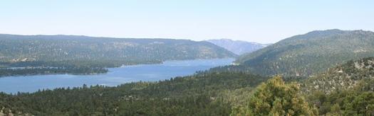 Big Bear Lake from the air.
