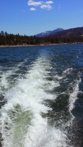 Wake heading out to Big Bear Lake