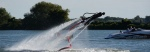 Flyboarding on the lake.