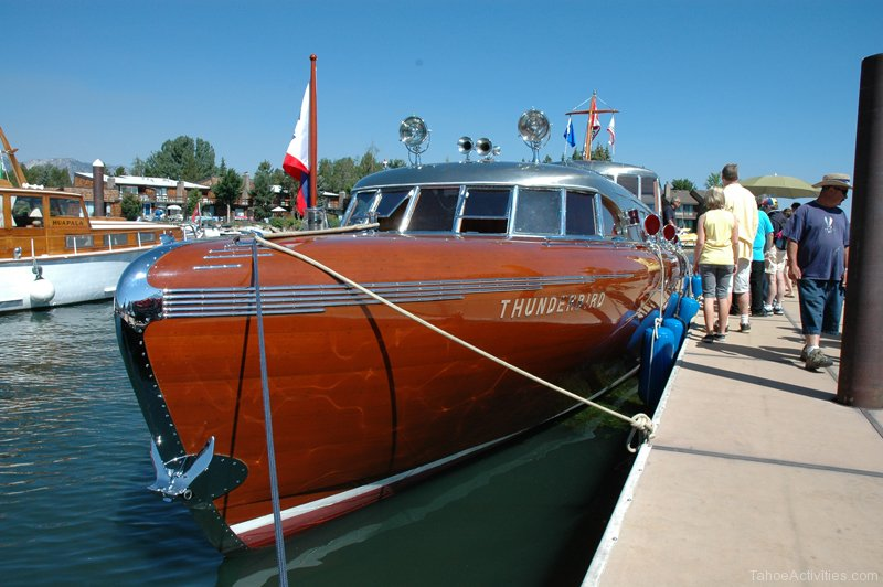 Thunderbird wooden boat lake tahoe