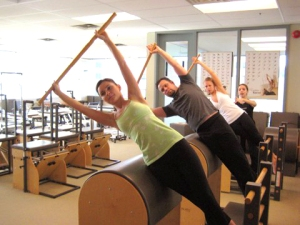 Pilates can be done with equipment...or without.