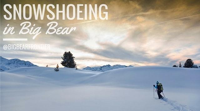 man snowshoeing