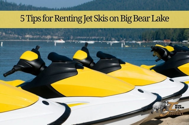 renting jet skis at big bear lake
