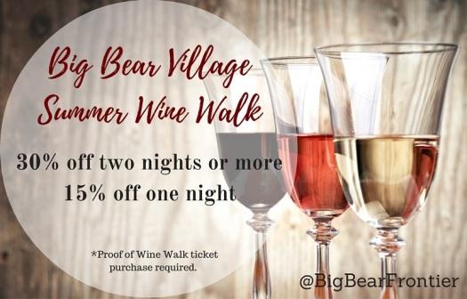 big bear village summer wine walk