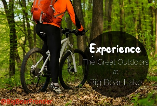 great outdoors biking at Big Bear Lake