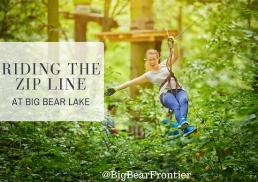 big bear lake zip lining image