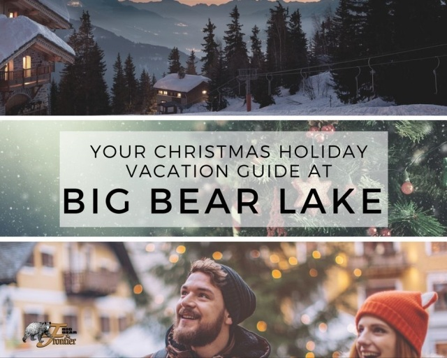 Christmas holiday vacation big bear lake California